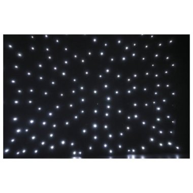 Showtec Stardrape White LED Black Cloth 4x6m inc controller & bag