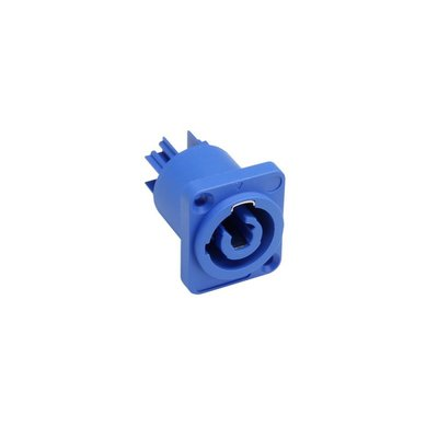 TRS Powercon Blue power-in chassis connector